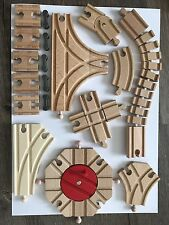 Thomas IKEA Wooden Train Special T Cross Spinal Turn twist Curved male Track Set