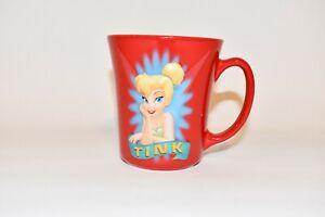Original Authentic Red Disney Tinker Bell 18 oz. Coffee/Tea Cup/Mug