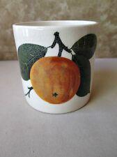 "Vintage WEMYSS Pottery,CUP,JAR,Orange Design,C.1930, PLICHTA,London, 3 3/16""High"