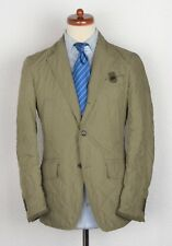 Fay Jacke Blazer Jacket Gr S Quilted Made in Italy Beige Steppjacke Coat Khaki