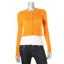 Magaschoni 3178 Womens Orange Cashmere Long Sleeves Cardigan Sweater Top XS BHFO