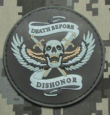 DEATH BEFORE DISHONOR 3D PVC US ARMY USA SWAT COLOR VELCRO® BRAND FASTENER PATCH