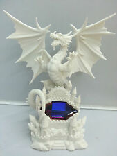 Mythical White Dragon Fantasy Figurine Ornament Figure New Statue
