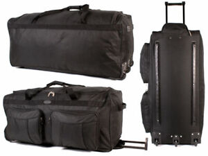 Large Lightweight Luggage Wheeled Holdall Trolley Suitcase Case Duffle Bag 1