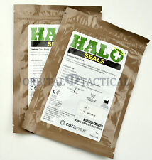 2 Halo Chest Seals (2 Per Package) Military EMS Medic Supply EXP. 2020