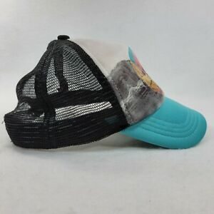 Volcom Trucker Cap Women BLACK / LIGHT BLUE Mesh Foam 5-Panel Snap Back Hat