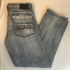 Buffalo Jeans Mens Ruffer Easy Fitt 35W 31L Distressed 100% Cotton Free Ship!