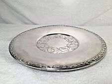 WM A Rogers Meadowbrook Silver Plate Leaves & Vines Serving Tray Dish Platter
