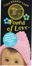 Lion Brand Yarn Pound of Love HOODED BABY AFGHAN Pattern Crochet & Knit Instruct