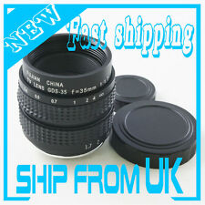 "35mm f/1.7 2/3"" C mount CCTV lens body for Olympus Micro 4/3 Sony NEX Pentax Q"