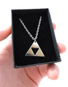 Zelda Triforce Necklace Stainless Steel Shiny