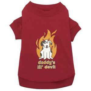 Zack & Zoey DADDY'S LIL DEVIL  Dog Pet Halloween T Shirt XXS -  XL
