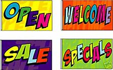 Open Welcome Sale Specials Display Banners Signs