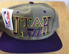 Utah Jazz Snapback Hat Vintage 90's New With Tags Nba License Official