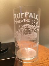 Buffalo Brewing Sacramento Etched pre pro beer glass Pre-Prohibition CLEAN