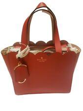 Kate Spade New York Magnolia Street Mini Mina Hotchili Red Leather Handbag