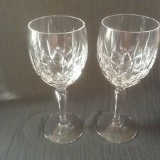 GORHAM Crystal LADY ANNE Wine Glasses set of two 7 5/8 inches high