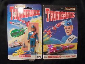 2 MOC Matchbox THUNDERBIRDS Alan Tracy Gordon Tracy 1994 Action Figures Rocket 3