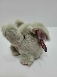 NWT ELLIE THE ELEPHANT  PLUSH PUFFKINS Gray Fluffy With Tags Vintage