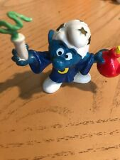 "Smurf West Germany Peyo Bully Wizard Vintage Rare 2"" high approx Stars Moon  1"