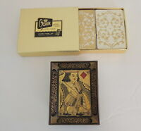 2 Decks Vintage Crown Playing Cards Heines Publishing Co. Plastic Coated In Box
