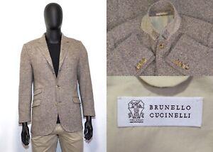 Amazing Brunello Cucinelli Blazer 54IT 44US/UK Brown 100% Wool Luxury