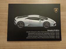 Lamborghini Huracan LP 610-4 Nouveau Service History Book
