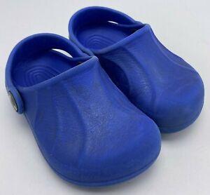 Crocs Unisex Blue Unisex Sz 6/7 Toddler Kids With No Holes