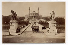 Picture old paris le pont d' Iéna trocadero drawing albumen circa 1880 x. phot.