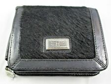 BRIGHTON Black Pony HORSE Hair & Leather Bifold Wallet Gently Pre-Owned
