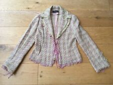 Louise Kennedy Silk Trim Boucle Tweed Jacket Size UK 8-10 Made In Italy