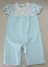 Girl's 6 Months CARTER'S Vintage Eyelet Checkered S/S Pants Romper Jumper EUC