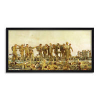Sargent Gassed Soldiers WWI Painting Long Framed Art Print