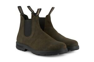 Blundstone 1615 Dark Olive Leather Unisex Chelsea Classic Dress Ankle Boot