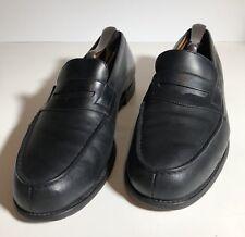 J.M. WESTON 180 LOAFER APRON STITCH BLACK LEATHER OUTSOLE Mens Size 8 uk / 9 us