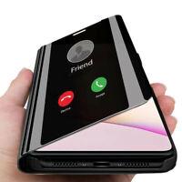 Case Housse En Cuir Flip Clear View Mirror Pour Xiaomi 10 Lite 10T Note 10 Pro