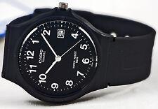 Casio MW59-1B Black Analog Watch Resin Date Stamp Classic NEW Free Shipping
