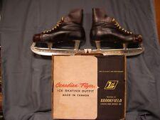 Vintage Canadian Flyer Boy'S Ice Hockey Skates Size 9, Don Marcotte Model 22 Tc