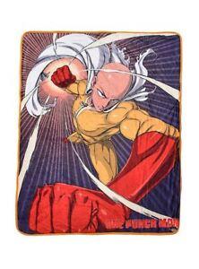 "ANIME SHOW ONE PUNCH MAN BORED SUPERHERO SAITAMA THROW BLANKET 46"" x  60"" NEW"