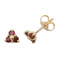Unbranded Butterfly Fastening Yellow Gold Ruby Fine Earrings