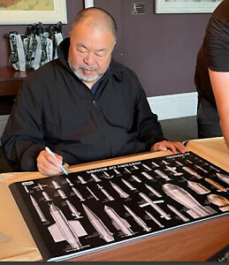 Hand Signed Ai Weiwei History Of Bombs Limited Edition Poster xx/200 In Hand
