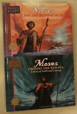 2 PRINCE OF EGYPT MOSES BOOKS BY MARY MANZ SIMON: RED SEA & BURNING BUSH HC 1998