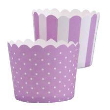 MINI Muffinförmchen Cupcake Papier Cups flieder weiß Muffin Städter 12 S