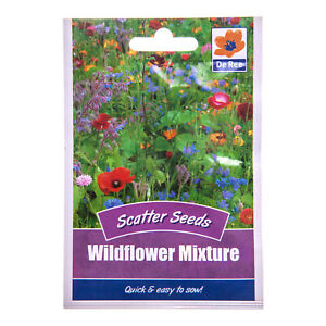 WILDFLOWER MIX Scatter Seeds – Pictorial Packet – Border Bedding Plants Flowers