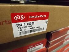 Genuine Kia Ceed 2016-2017 TWO Rear Brake Discs (x2) - 58411A6300
