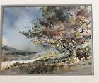 "Hal McCaskill River Stream Tree Original Watercolor Painting 6 X 8"""