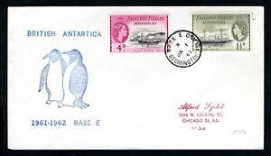 British Antarctic Territory - 1961 Stonington Island Base E Cover and Postmark
