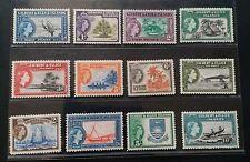 GILBERT & ELLICE ISLANDS 1956 QE II 1/2d to 10s SG 64 - 75 Sc 61 - 72 set 12 MNH
