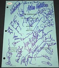 THE SOPRANOS CAST W/TONY TV SCRIPT COVER WHOLE CAST SIGNED BY 25 AUTOGRAPHED JSA