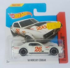 HOT WHEELS'68 Mercury Cougar Bianco HW RACE non aperti su carta GRATIS UK